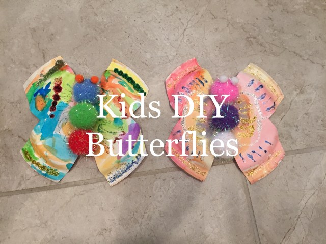 Kids DIY butterflies