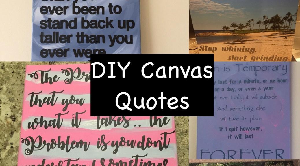 Diy Canvas Quotes Mom Md Hawaii