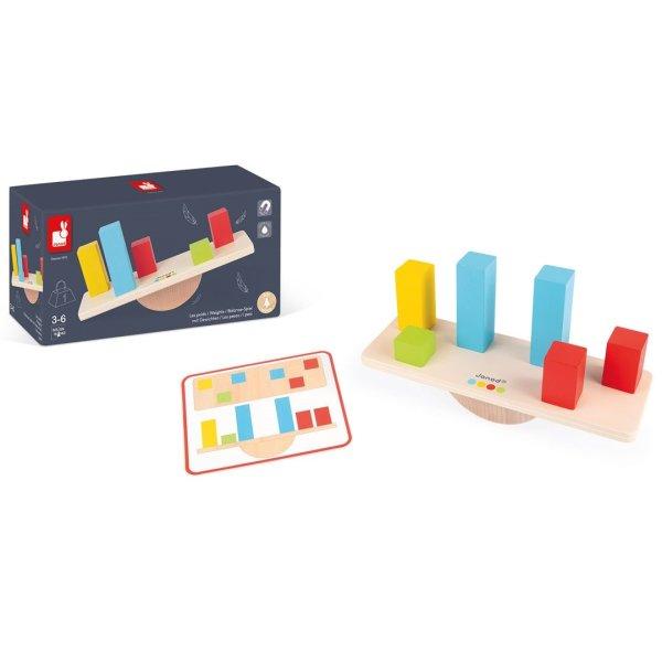 משחקי עץ צעצועי עץ - איזון משקל - Mom & Me