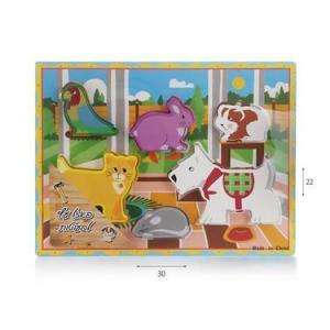 צעצועי עץ פאזל חיות בית - Mom & Me