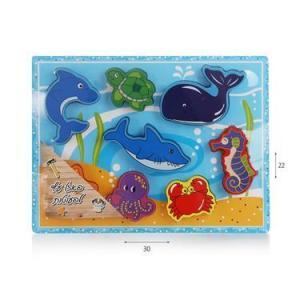 צעצועי עץ פאזל חיות ים - Mom & Me