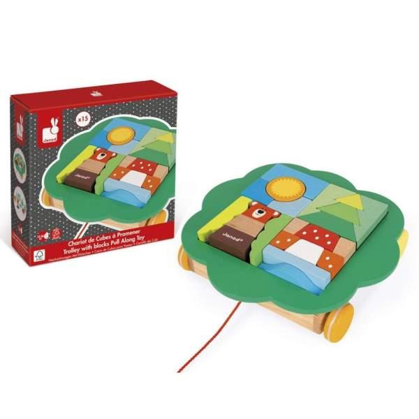 צעצועים עגלת הרכבות מעץ - Mom & Me