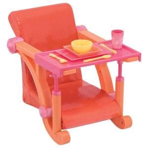 צעצועים כיסא אוכל לבובה מתחבר לשולחן - Mom & Me
