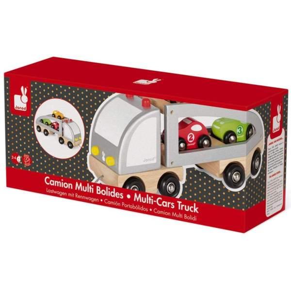 צעצועים מוביל המכוניות מעץ - Mom & Me