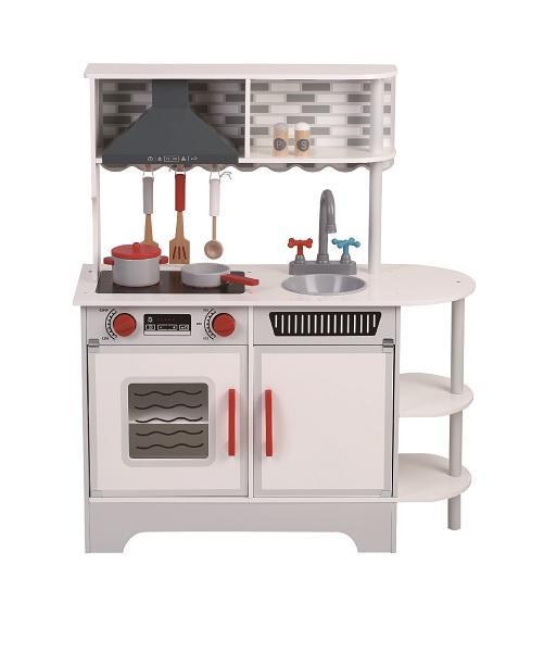 מוצרי עץ מטבח השף הקטן לבן מעץ - מונטסורי - Mom & Me