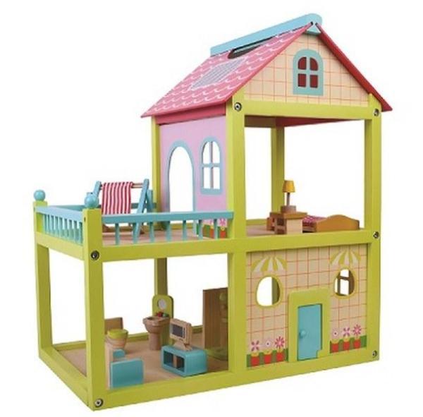 מוצרי עץ בית בובות צבעוני מעץ - מונטסורי - Mom & Me