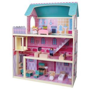 מוצרי עץ בית בובות רב קומות מעץ - מונטסורי - Mom & Me
