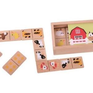 מוצרי עץ דומינו חיות עץ בית מעץ - מונטסורי - Mom & Me