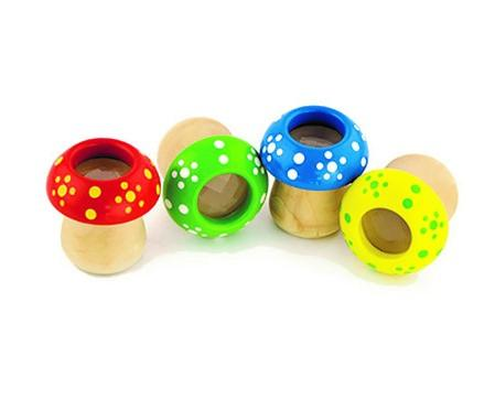 מוצרי עץ מגוון קליידסקופ (4 צבעים) מעץ - מונטסורי - Mom & Me