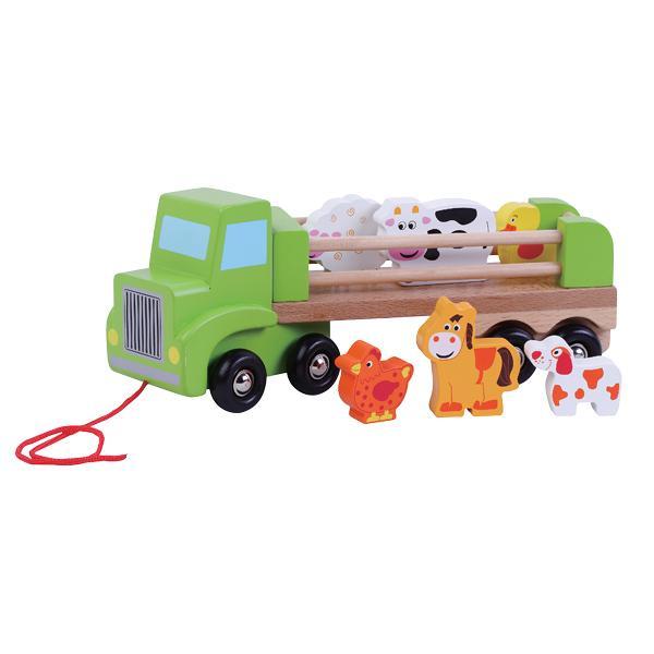 מוצרי עץ משאית חיות מעץ - מונטסורי - Mom & Me