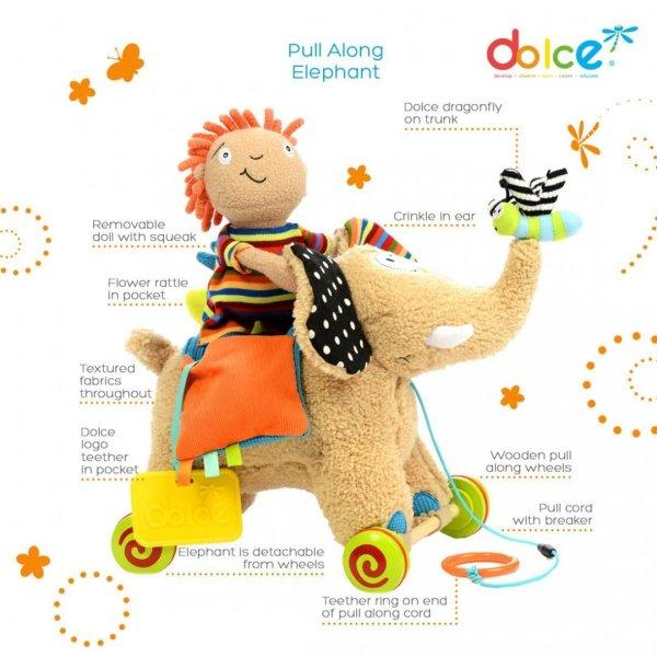 צעצועים צעצוע פעילות פיל משיכה על גלגלים - Mom & Me