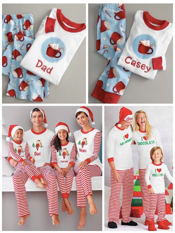 Cheap Matching Family Christmas Pajamas Breeze Clothing
