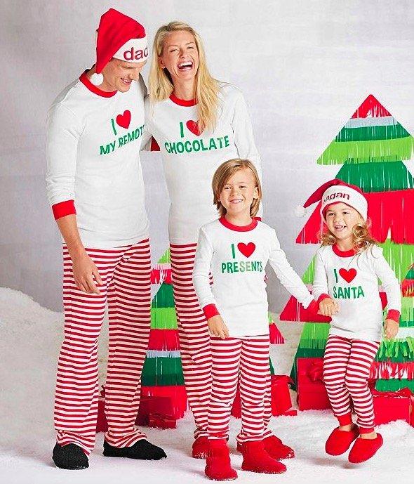 Matching Christmas Pajamas Holiday Family PJs Sleepwear