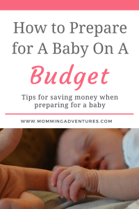 Saving money while preparing for a baby