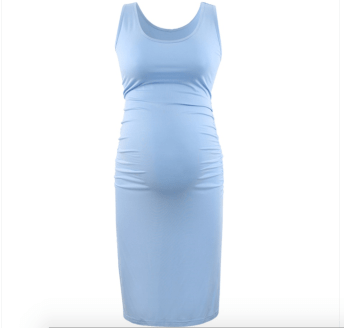Plain sleeveless maternity dress