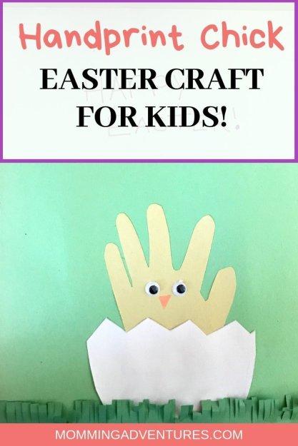 Easter Craft: Handprint chick