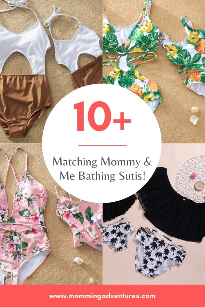 Matching mommy and me swim suits