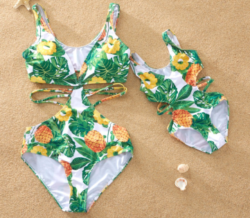 Pineapple bathing suit