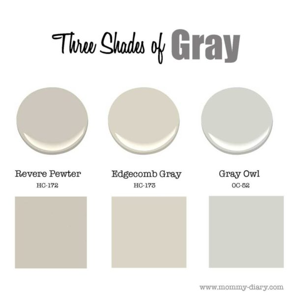 Three Shades Of Gray Revere Pewter Edgecomb Gray Mommy Diary