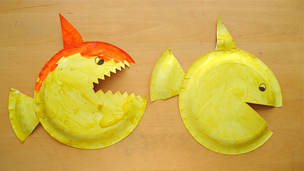 Paper Plate Fish & Sharks Mommyapolis