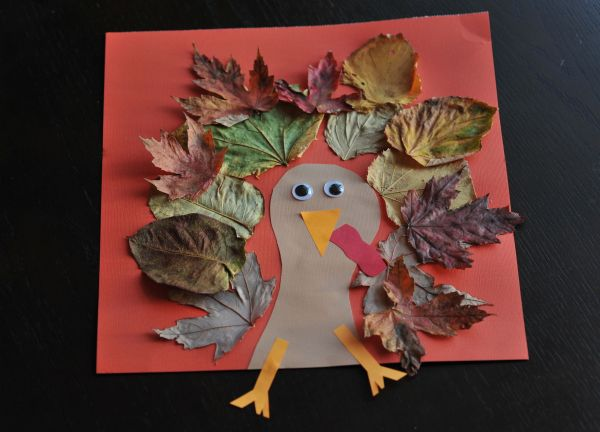 Turkey Craft with Leaves
