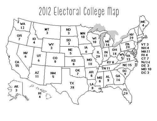 MommyCoddle: For you: printable 2012 electoral college map!