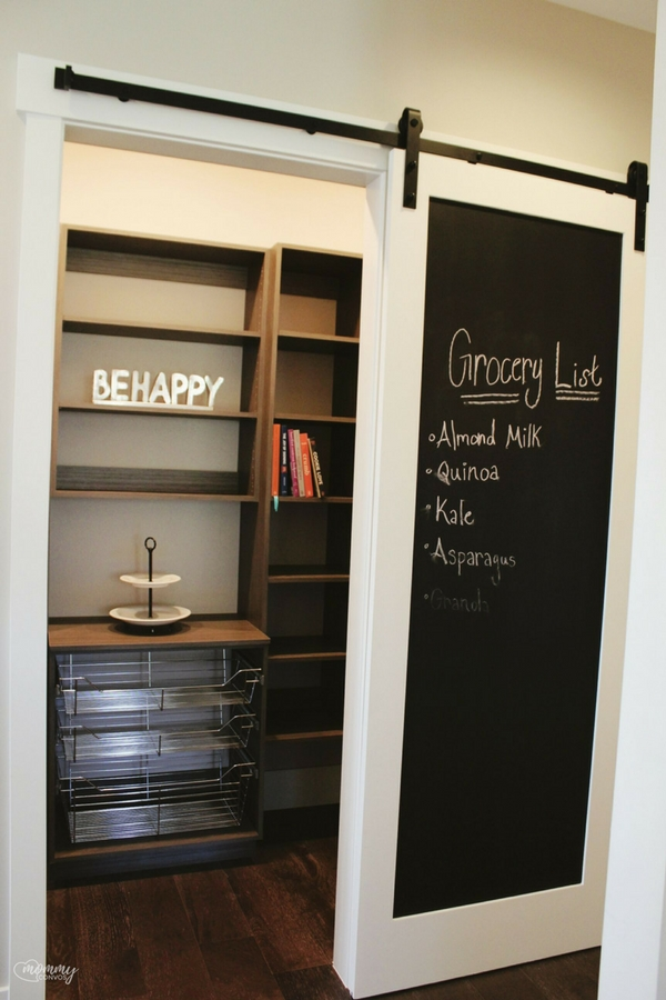 Chalkboard pantry door. St. George Parade of homes tour. Kitchen ideas. Bath Ideas.
