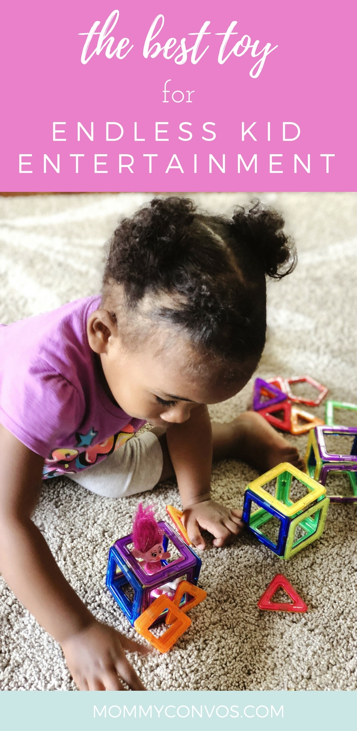 Playtime with kids. Magnetic blocks for a good price. A toy that keeps the whole family entertained. Family playtime.