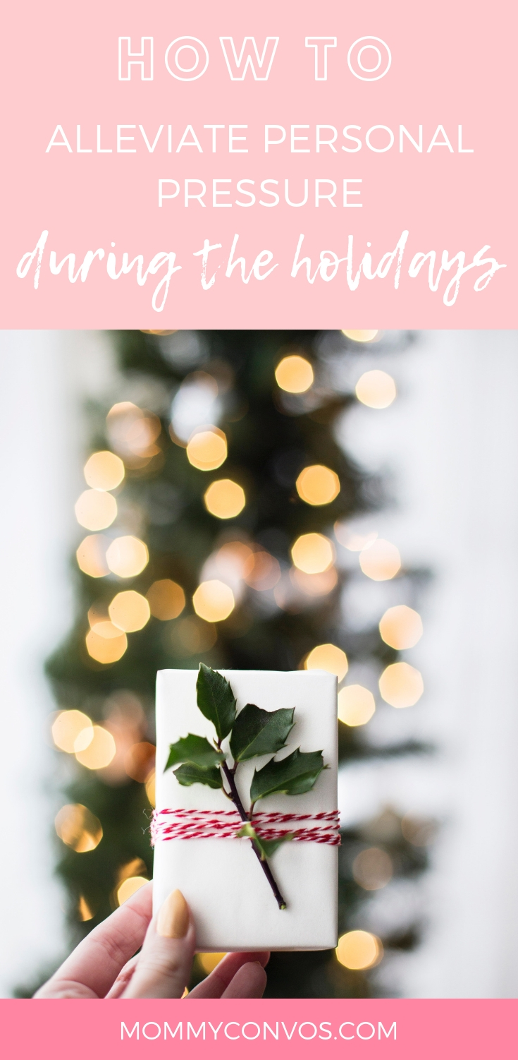 Personal Pressure during the holidays. How to alleviate. Ask for help. Enjoying the holidays. The true reason for the season.