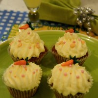 TASTY CARROT CUPCAKE WITH CREAM CHEESE  FROSTING