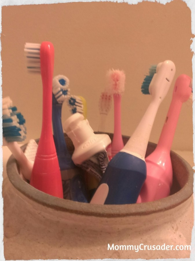 The Toothbrushing Canister. | MommyCrusader.com
