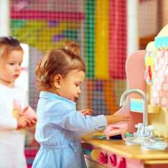 Little Girl Kitchen Sets Grey Backsplash The Best Kids For 2019 1 Will Surprise You Toddler Playing With Play Set