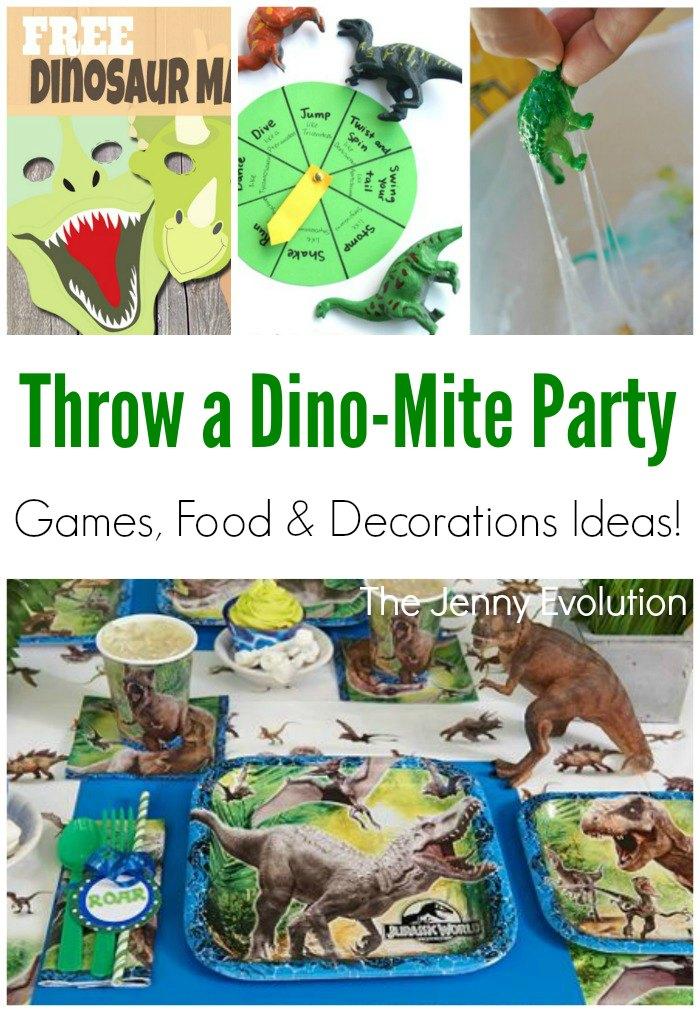 dinosaur party birthday games