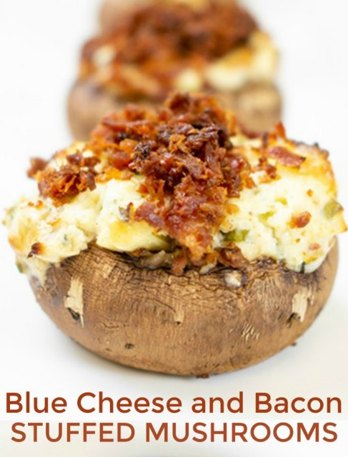 Easy Blue Cheese and Bacon Stuffed Mushrooms Appetizer Recipe | Mommy Evolution