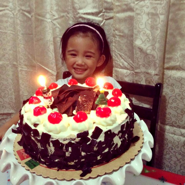 Red Ribbon Tale And Black Forest Cake