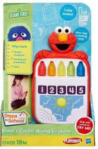 Sesame Street Playskool Steps to School Elmo's Count Along Crayons