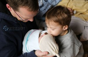 At First Sight Birth Photography - brotherly love