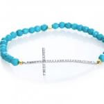 Scoop NYC beaded cross bracelet