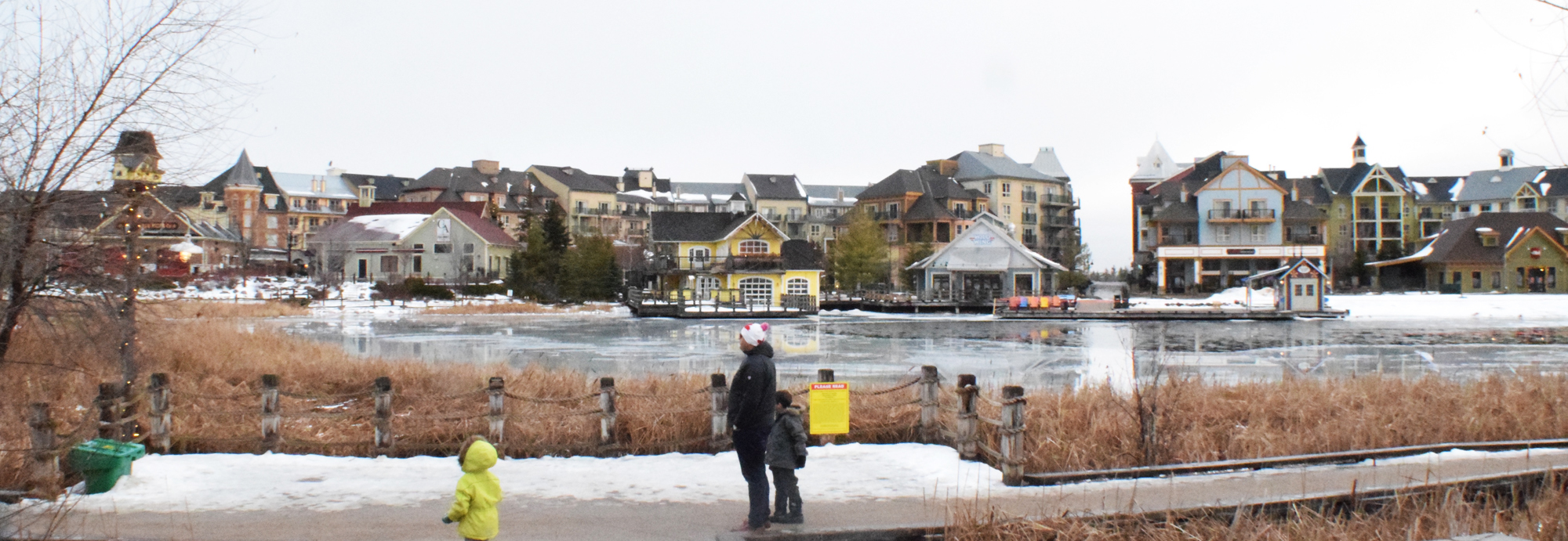 Your view of Blue Mountain Village when you leave through the back doors of The Westin Trillium House.
