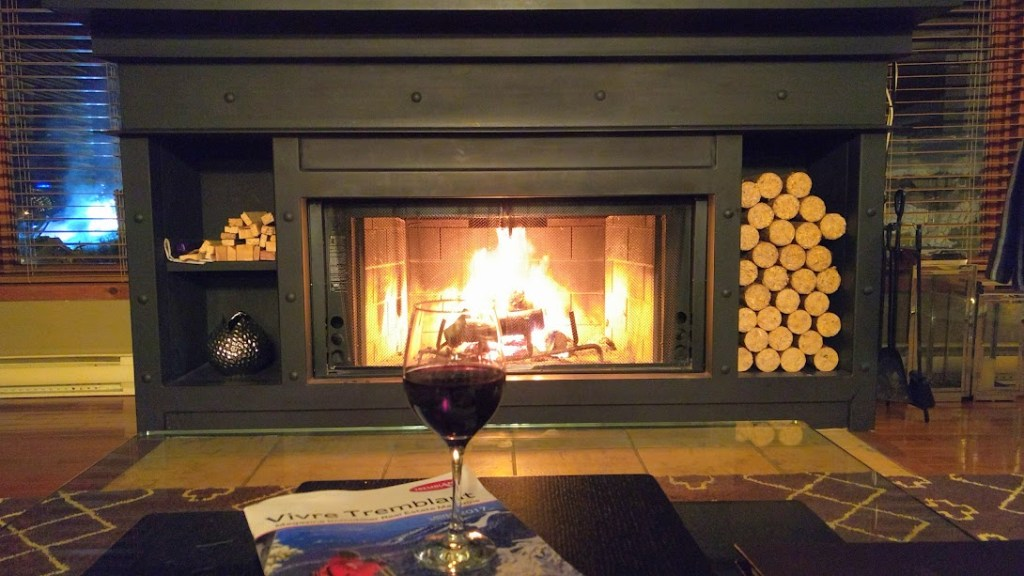 Ahhh...chalet bliss on a cold winter's night.