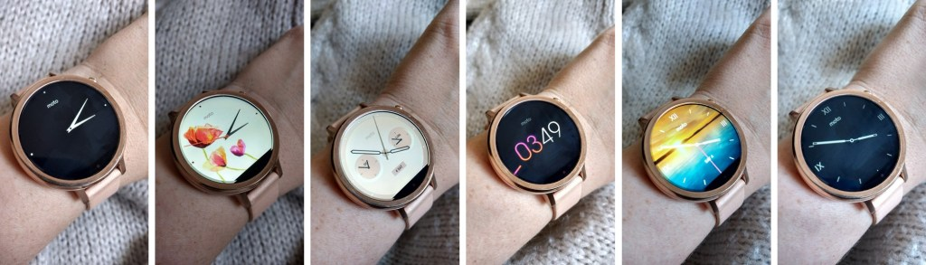 Moto 360 smartwatch.