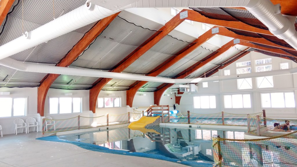 indoor heated pool at Smugg's in Vermont