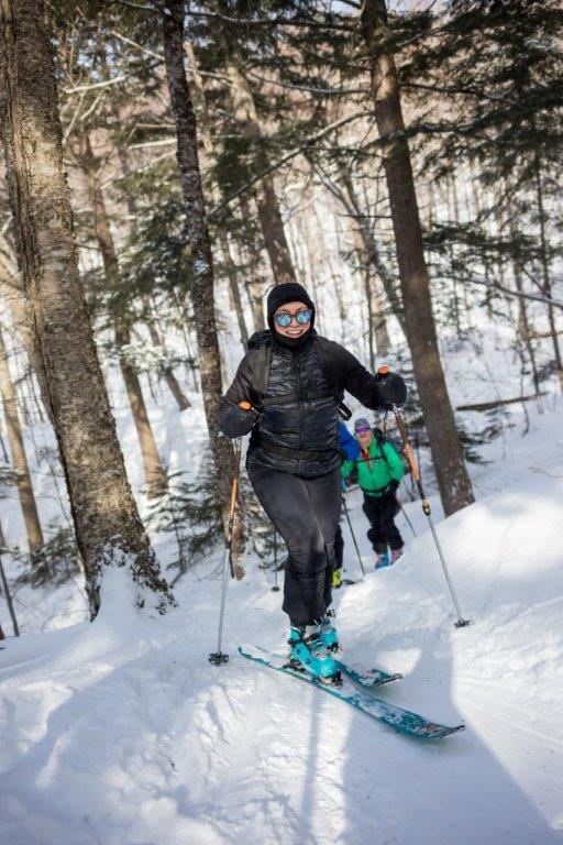 Alpine touring skinning in Tremblant