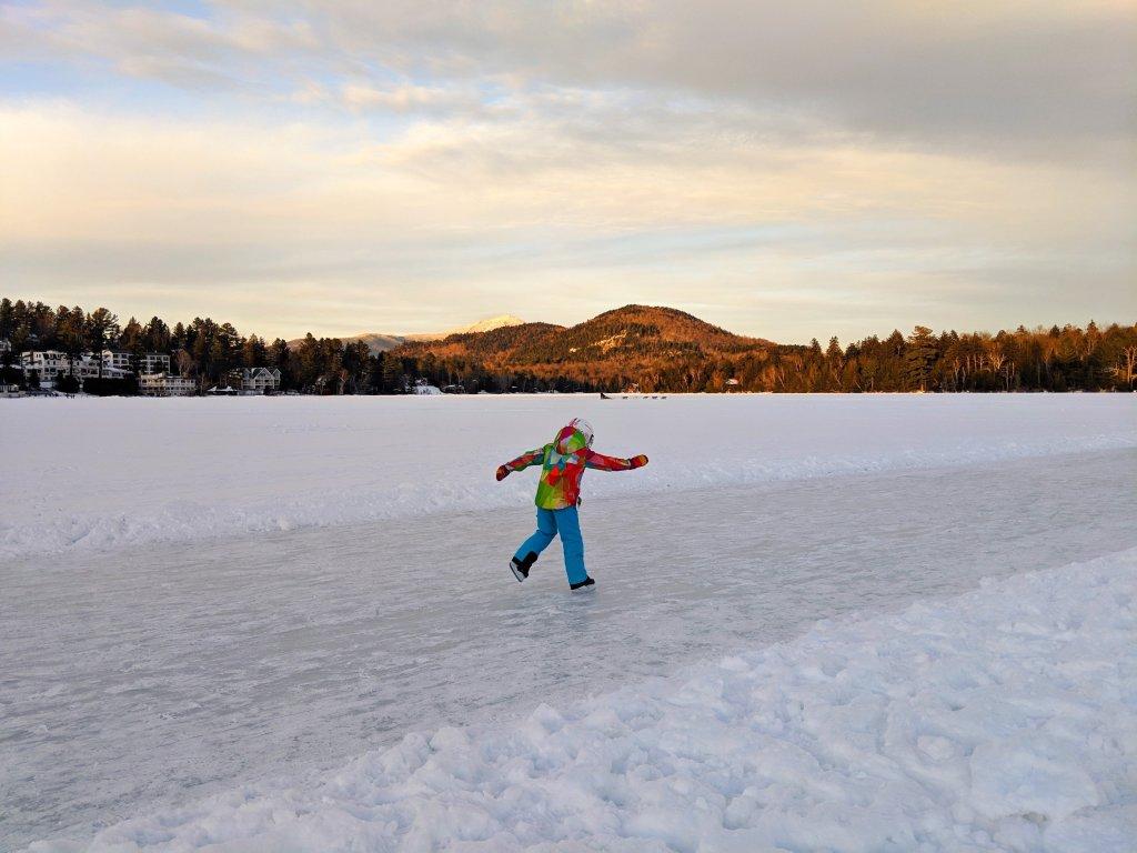 ice skating lake placid