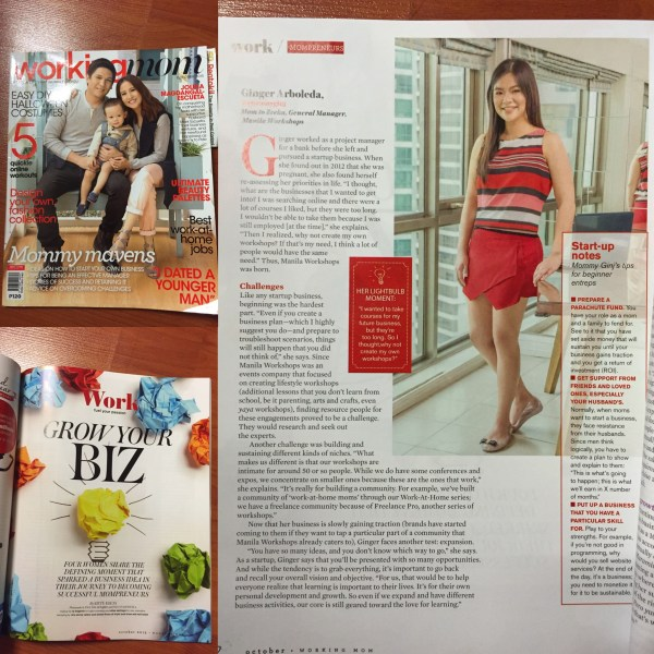 Mommy Ginger in Working Mom Magazine