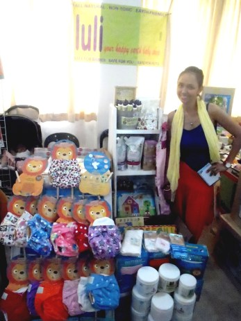At the Babypalooza Bazaar: her first ever bazaar!