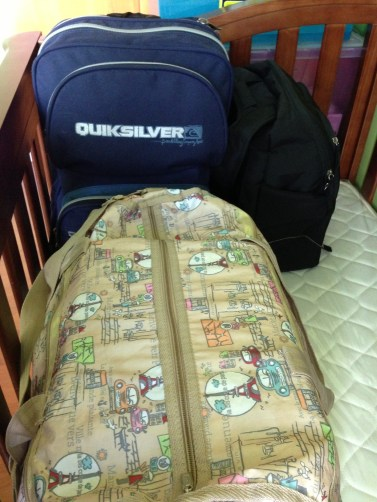 All our bags are packed and we're ready to gooo!