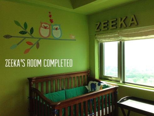 Zeeka's Completed Nursery Room