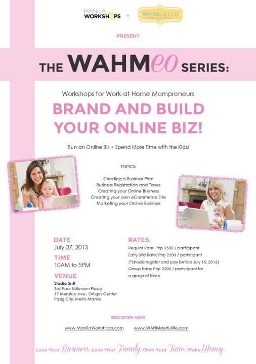 The WAHMeo Series: Brand and Build your Online Biz!