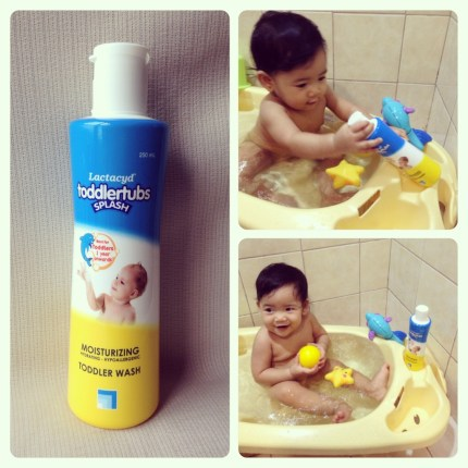 Baby Zeeka using Lactacyd Toddler Tubs
